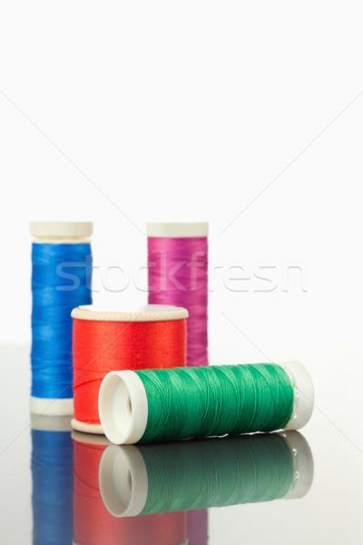 Renkli iplik tablo beyaz doku moda Stok fotoğraf © wavebreak_media