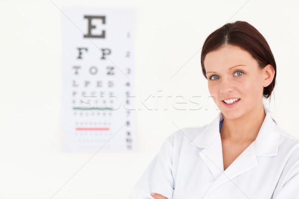 Nice Homme opticien bureau yeux Photo stock © wavebreak_media
