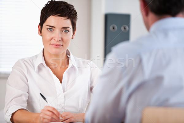 Kierownik mężczyzna wnioskodawca biuro kobieta pracy Zdjęcia stock © wavebreak_media