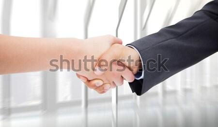 Stock fotó: Portré · férfias · kéz · kész · kézfogás · fehér