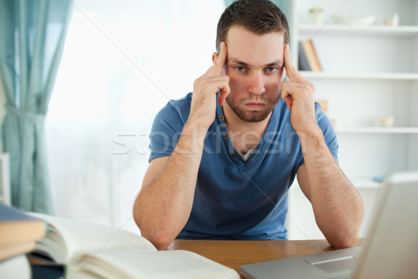 Male student can't find the right answer Stock photo © wavebreak_media