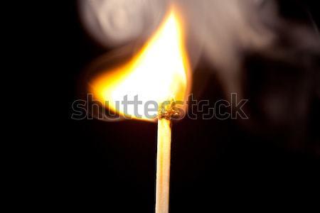 Partido establecer fuego negro madera luz Foto stock © wavebreak_media