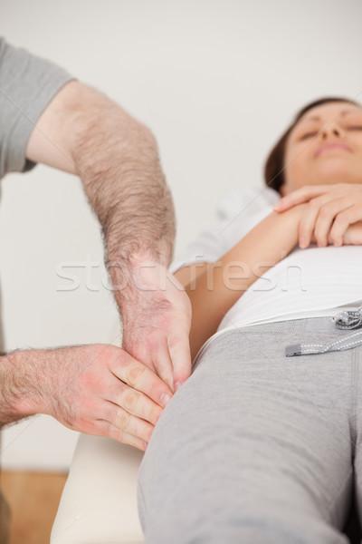 бедро мирный пациент комнату рук Сток-фото © wavebreak_media