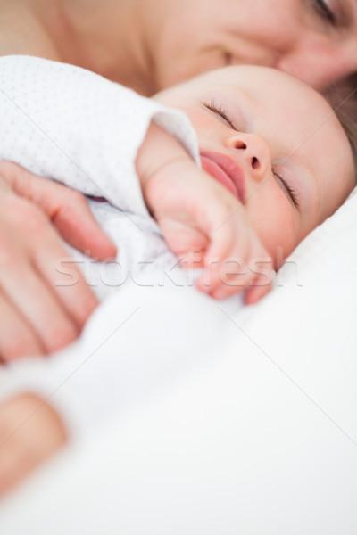 Aranyos baba alszik anya bent nő Stock fotó © wavebreak_media