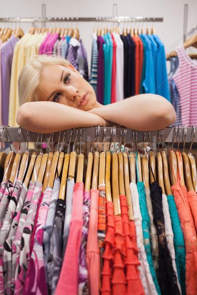 Mulher olhando cansado boutique Foto stock © wavebreak_media