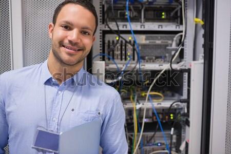 человека сервер ящик центр обработки данных сеть Сток-фото © wavebreak_media