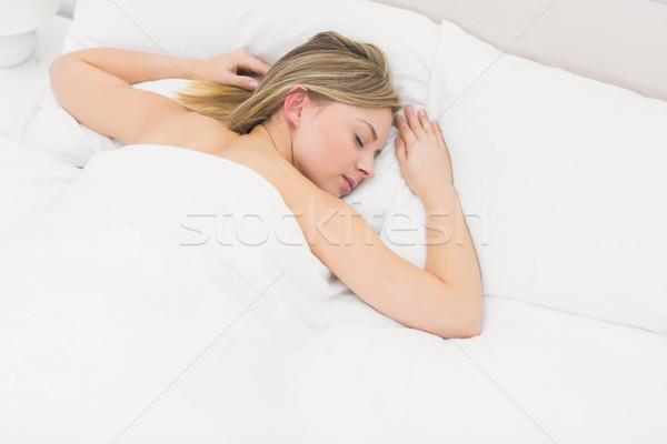 Vista hermosa dormir cama Foto stock © wavebreak_media