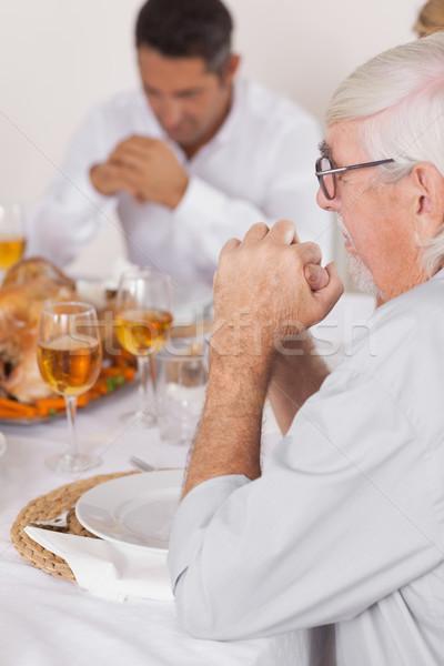 Familie gezegde eten dankzegging diner vrouw Stockfoto © wavebreak_media