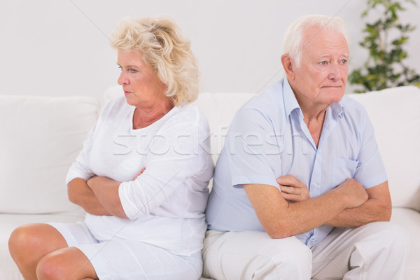 Unhappy woman being angry against an old man Stock photo © wavebreak_media
