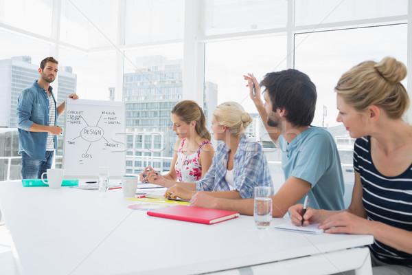 Lezser üzletemberek iroda bemutató fiatal üzletember Stock fotó © wavebreak_media