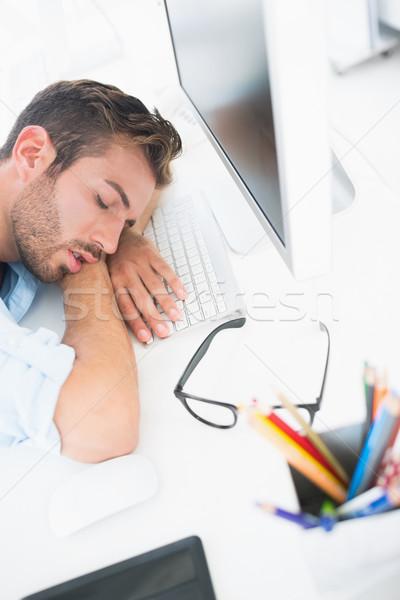 Masculino artista cabeça teclado vista lateral Foto stock © wavebreak_media