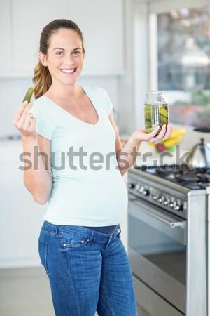 Sorridere fuori coltello cucina Foto d'archivio © wavebreak_media