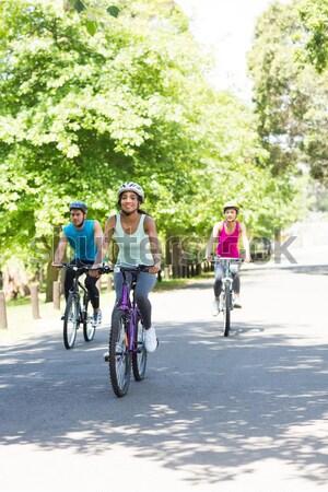 サイクリスト ライディング 田舎道 スポーツ 自転車 ストックフォト © wavebreak_media