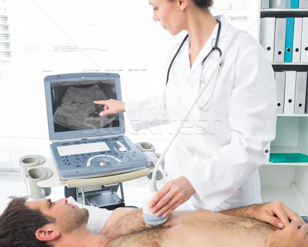 кардиолог мужчины пациент женщины Сток-фото © wavebreak_media