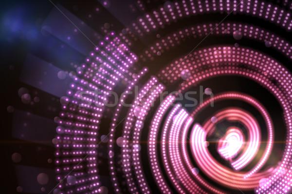 Digitalmente gerado spiralis projeto rosa Foto stock © wavebreak_media