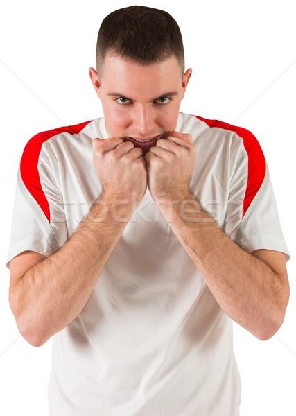 Nervioso futbolista mirando cámara blanco fútbol Foto stock © wavebreak_media