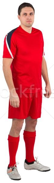 Guapo futbolista mirando cámara blanco hombre Foto stock © wavebreak_media