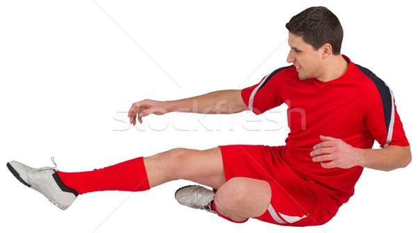 Dopasować skoki biały człowiek Zdjęcia stock © wavebreak_media