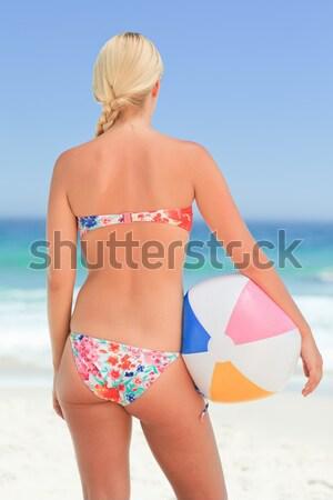 Caber mulher biquíni praia Foto stock © wavebreak_media