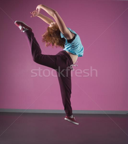 Bella break ballerino aria dance studio Foto d'archivio © wavebreak_media