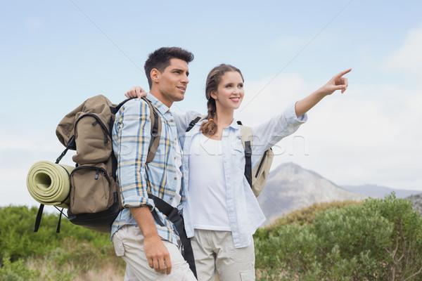 пару указывая улыбаясь стране местность походов Сток-фото © wavebreak_media