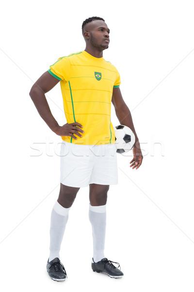 Full length of Brazilian football player Stock photo © wavebreak_media