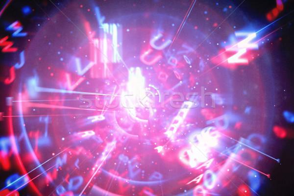 Azul rojo tecnología interfaz digitalmente generado Foto stock © wavebreak_media