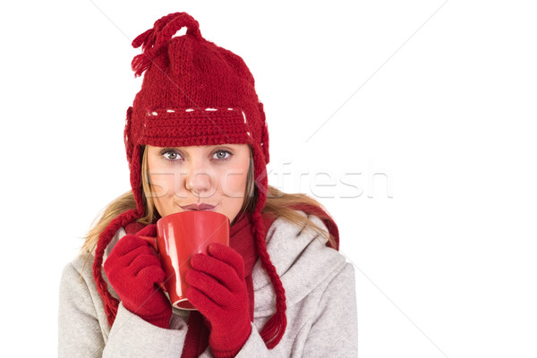 Felice inverno vestiti mug Foto d'archivio © wavebreak_media