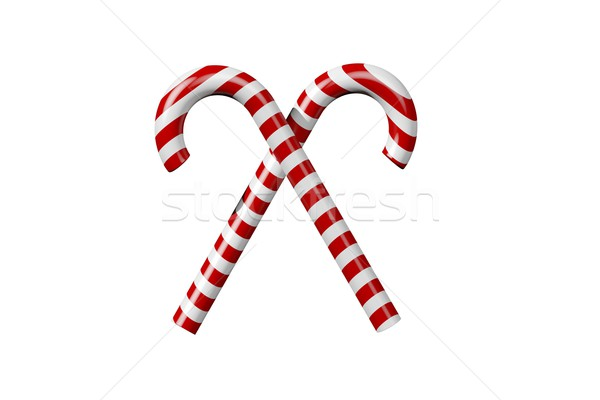 Piros fehér cukorka digitális karácsony ünneplés Stock fotó © wavebreak_media