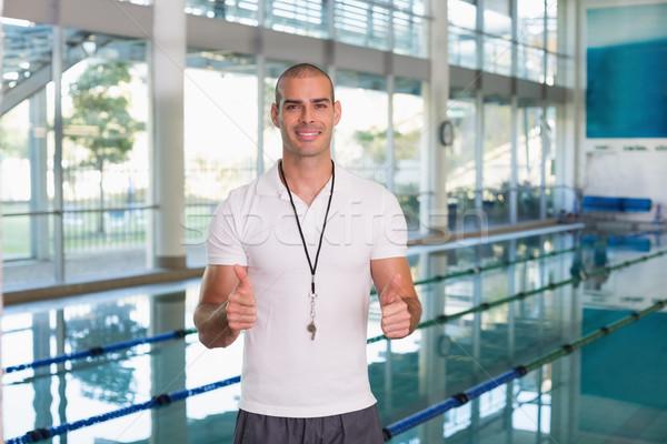 Natation coach piscine loisirs Photo stock © wavebreak_media