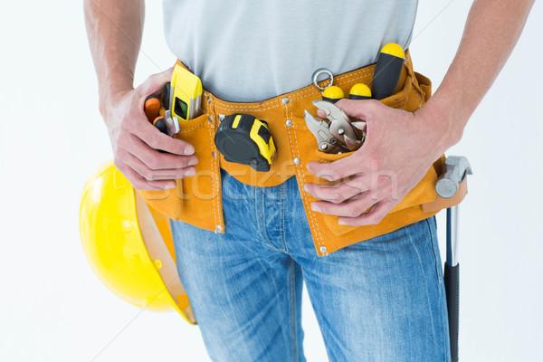 Techniker Tool Gürtel herum Taille Bild Stock foto © wavebreak_media