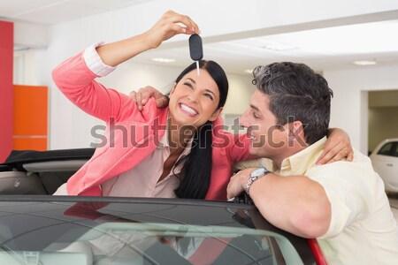 笑みを浮かべて 新しい車 ショールーム 車 ストックフォト © wavebreak_media