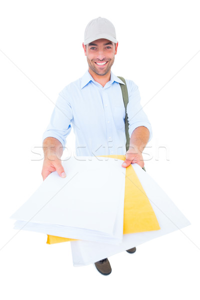 Gelukkig postbode witte portret man baan Stockfoto © wavebreak_media