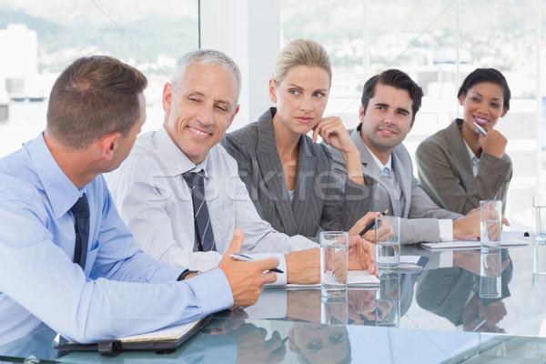 Business-Team Gespräch Konferenz Büro Business glücklich Stock foto © wavebreak_media
