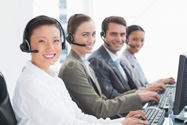 деловые люди компьютеры служба компьютер женщину человека Сток-фото © wavebreak_media