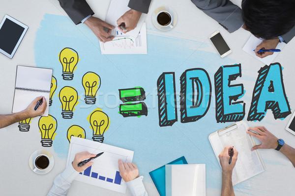 Composite image of business meeting Stock photo © wavebreak_media