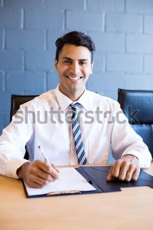 Businessman interviewing woman Stock photo © wavebreak_media