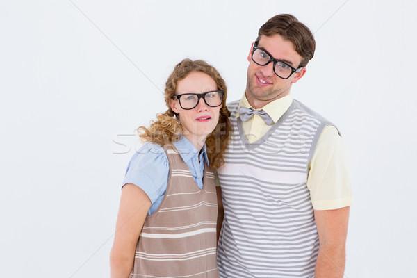 Gelukkig paar dom gezichten witte Stockfoto © wavebreak_media