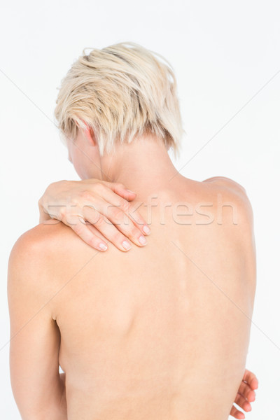 Beautiful woman with neck pain  Stock photo © wavebreak_media