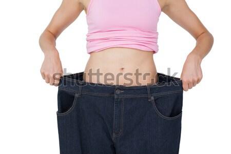 女性 重量を失う 白 セクシー ストックフォト © wavebreak_media