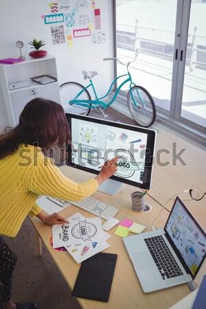 Grafik tasarımcı çalışma yaratıcı ofis Stok fotoğraf © wavebreak_media