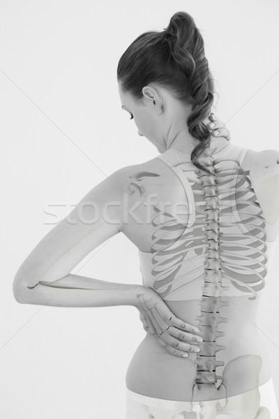 Achteraanzicht vrouw lijden spierpijn witte gezondheid Stockfoto © wavebreak_media