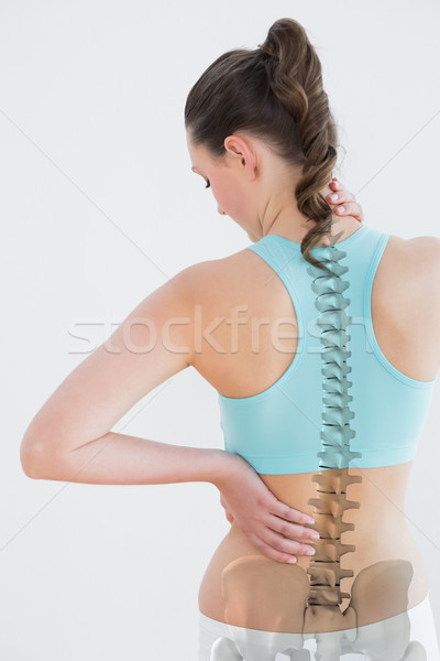 Vue arrière femme souffrance blanche santé Photo stock © wavebreak_media