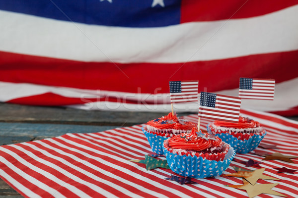 Decorated cupcakes with 4th july theme Stock photo © wavebreak_media