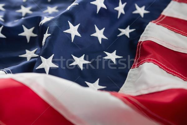 Full frame amerikai zászló közelkép étel üveg kék Stock fotó © wavebreak_media
