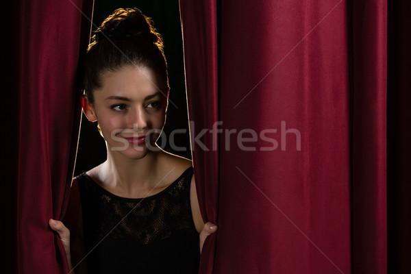 Gelukkig balletdanser fase gordijn man kunst Stockfoto © wavebreak_media