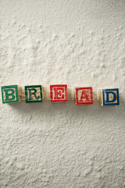 Pain texte blocs farine vue bois Photo stock © wavebreak_media