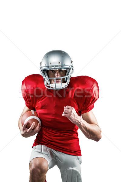 Amerikai futballista piros fut portré fehér Stock fotó © wavebreak_media