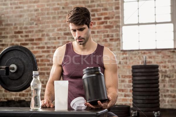 Adam ek kalay spor salonu uygunluk Stok fotoğraf © wavebreak_media