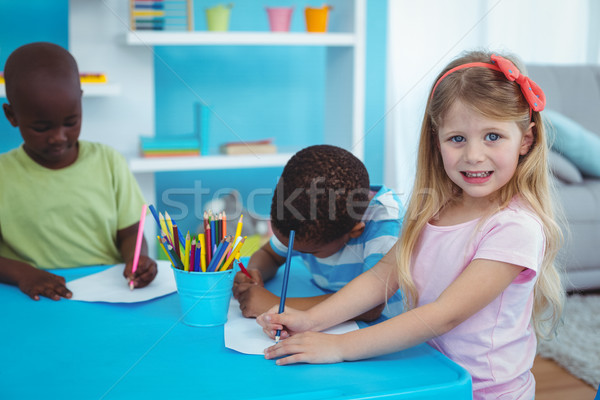 счастливым дети искусств ремесла вместе Сток-фото © wavebreak_media